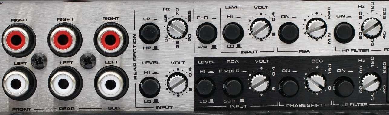 Amplificador de 6 canales con múltiples ajustes